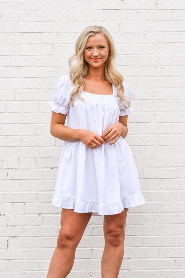 What A Doll Dress - White