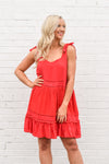 Easy As Can Be Dress - Red