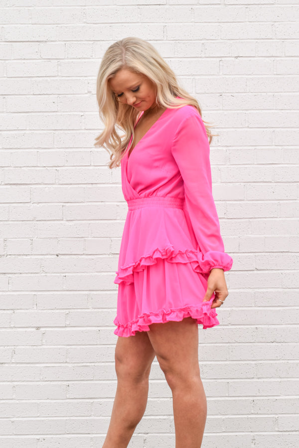 Dancing Downtown Dress - Candy Pink
