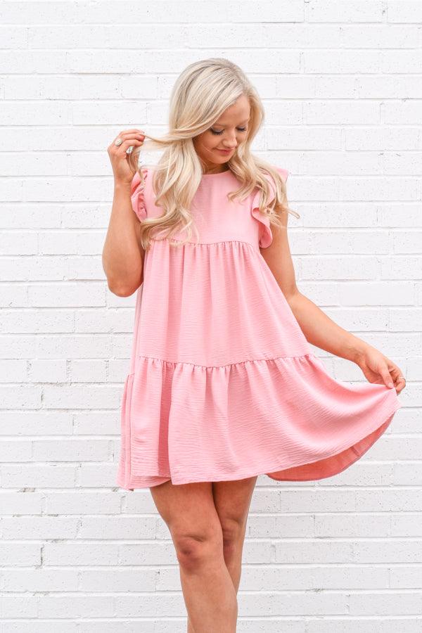 Stop & Smell The Roses Babydoll Dress