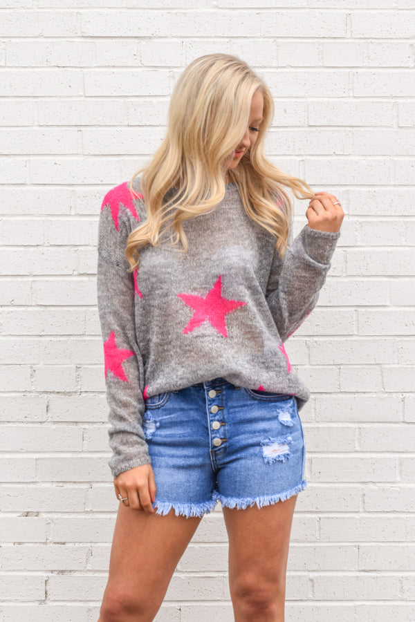 Under The Stars Sweater - Grey