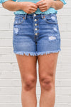 Back On The Beach Denim Shorts - Medium Wash