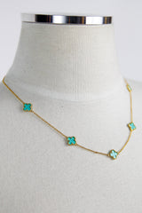Multi clover necklace - Turquoise