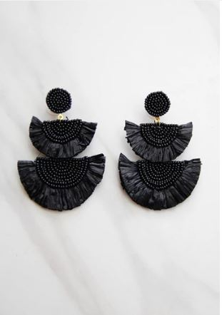 Fan-tastic Earrings - Black