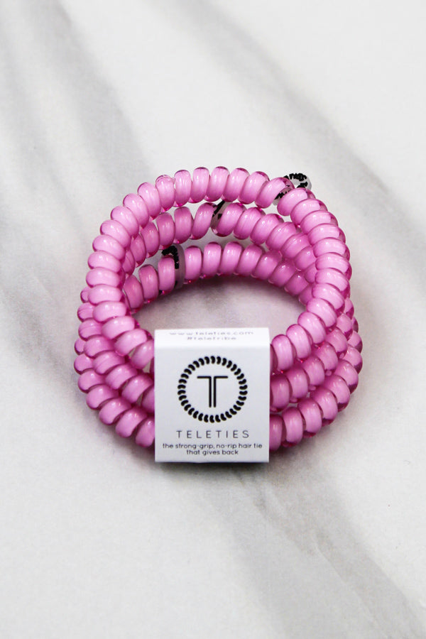 Teleties Small Hair Ties - Flamingo