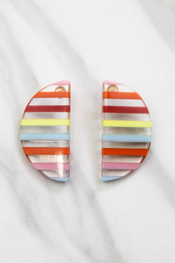 Side By Side Earrings - Rainbow