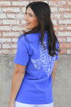Flo Blue Texas Pig Tee