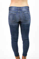 Flying Monkey Distressed Dark Wash Skinny