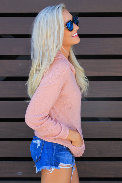Pink Stargazer Hooded Sweater