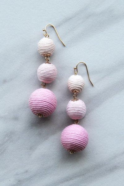 Dusty Pink Drop Earrings
