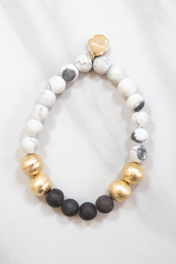 Touch Of Gold Bracelet - Marble