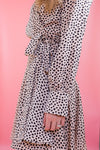 Seeing Spots Dress - Taupe
