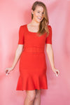 Making A List Dress - Red Orange