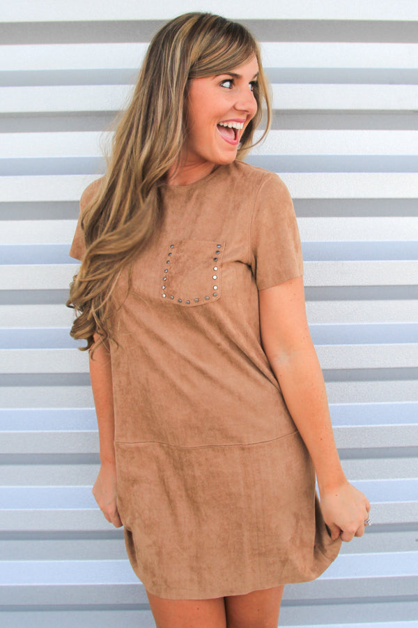 Studded Suede Dress