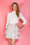 Glitz & Glam Sequin Skirt - Silver