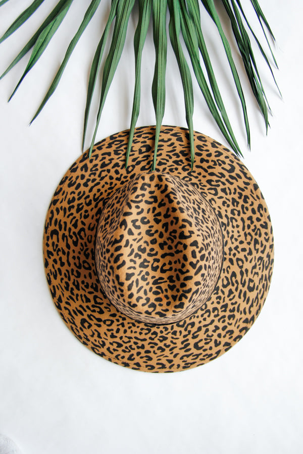 Into The Wild Felt Hat- Leopard