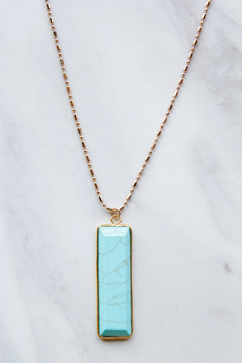 Touch Of Color Turquoise Necklace