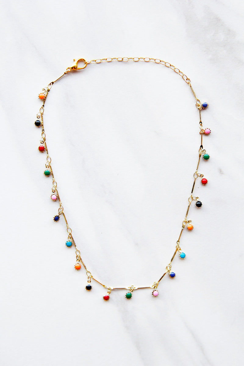 Drops Of Rainbow Choker