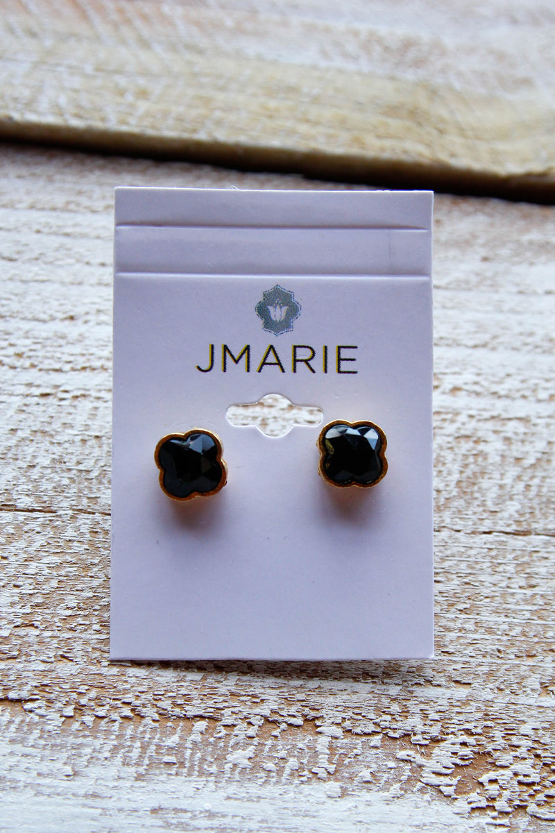 Jmarie 3d Black Clover Post Studs