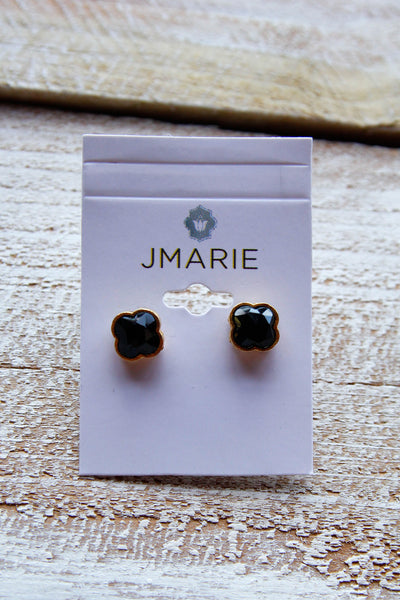 Jmarie Black Clover Post Studs