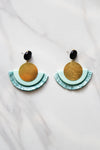 Sun On The Water Earrings - Aqua