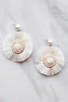 Seaside Disk Earrings - White