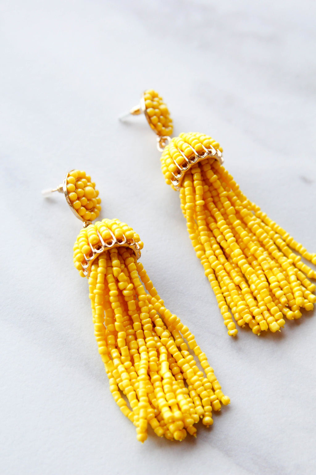 Capri Tassel Earrings - Yellow