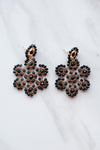 Candace Statement Earrings - Black