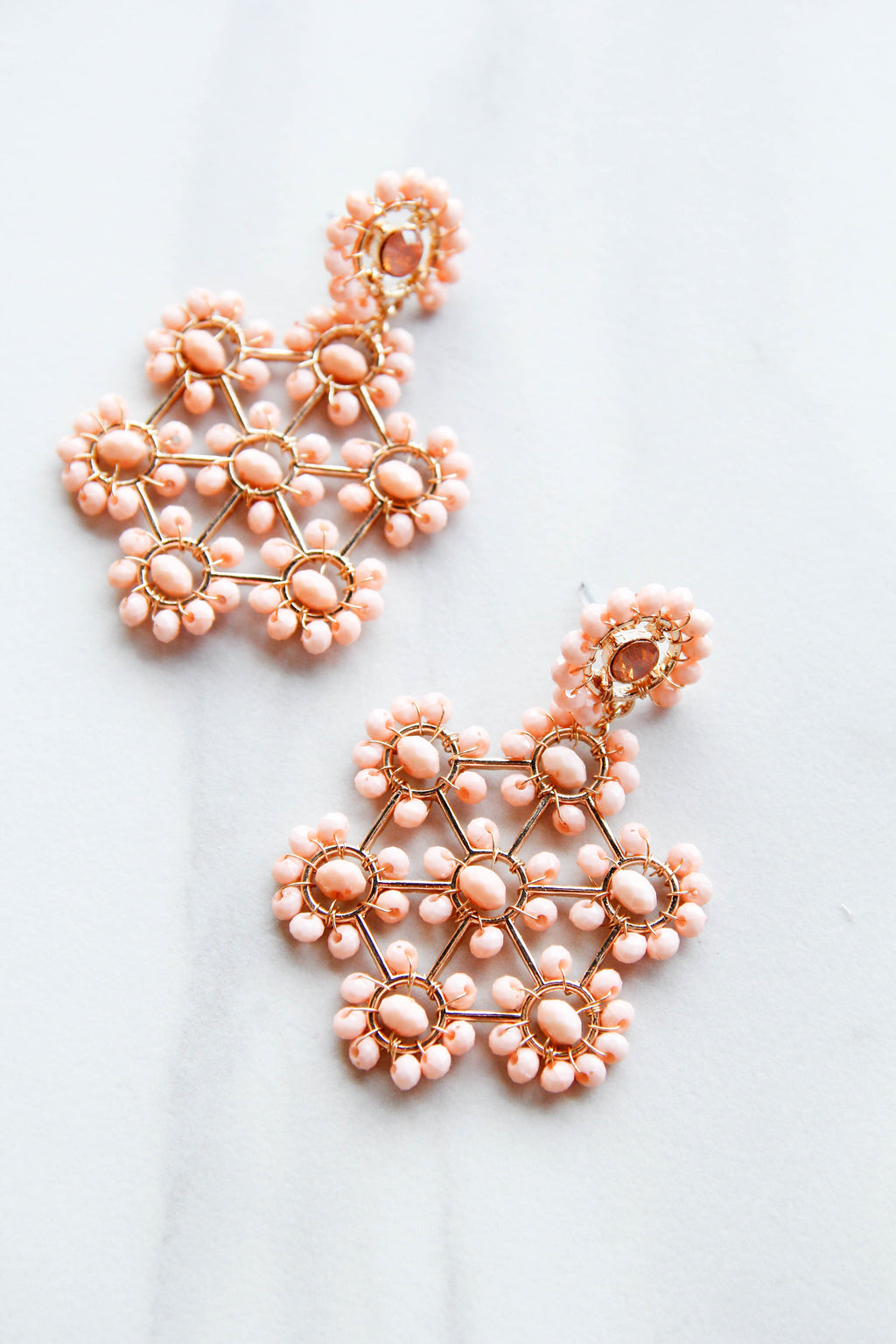 Candace Statement Earrings - Blush