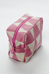 Small Cosmetic Bag - Triangle Mauve
