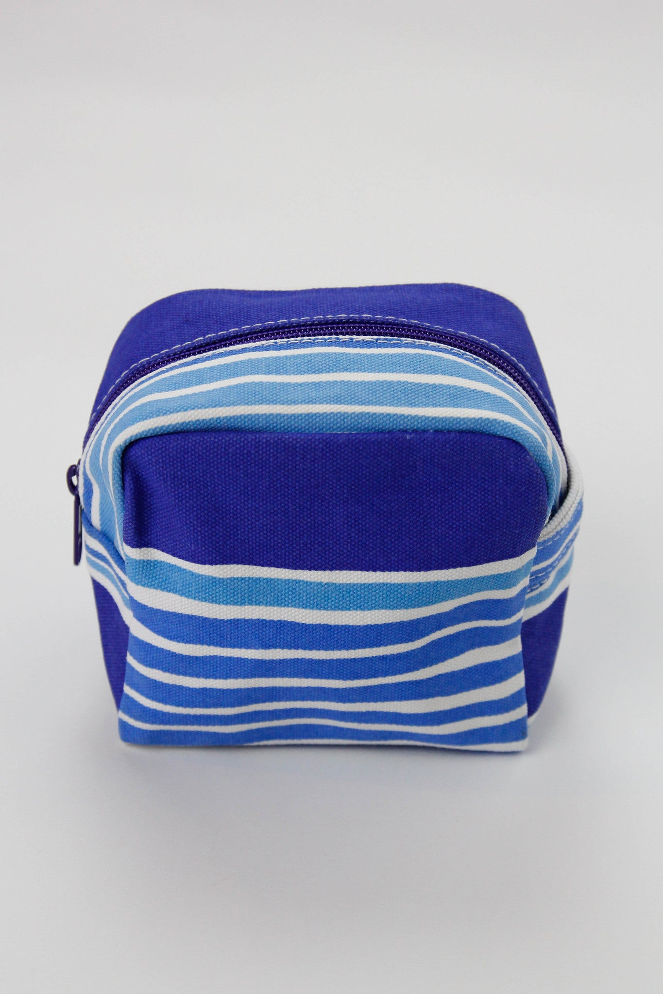 Small Cosmetic Bag - Layer Stripe Blues