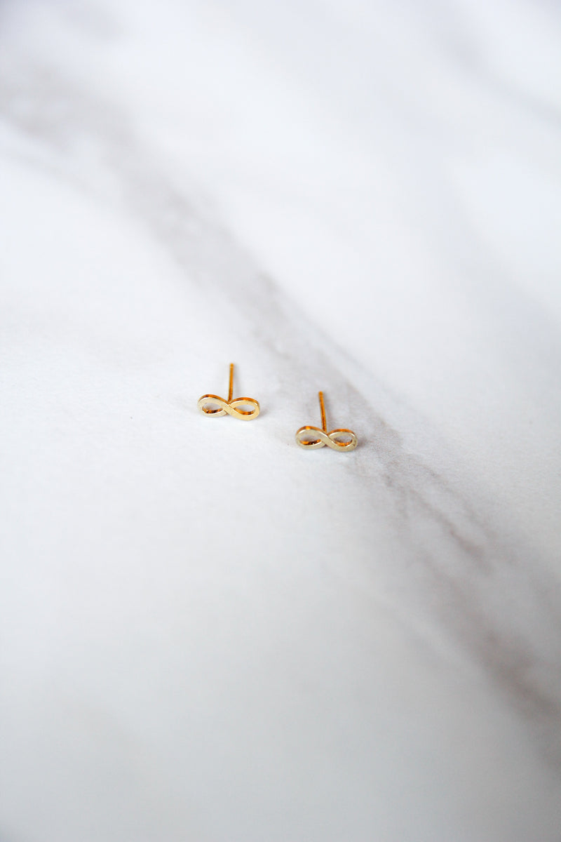 Dogeared Infinity Studs - Gold