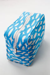 Large Cosmetic Bag - Rings Aqua