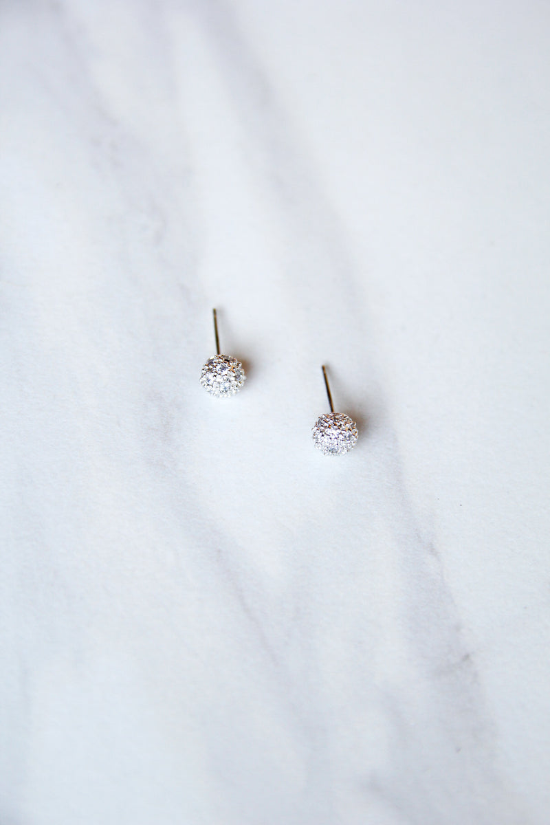 Small Silver Ball Studs