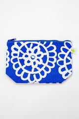 Large Travel Pouch - Lace Blue