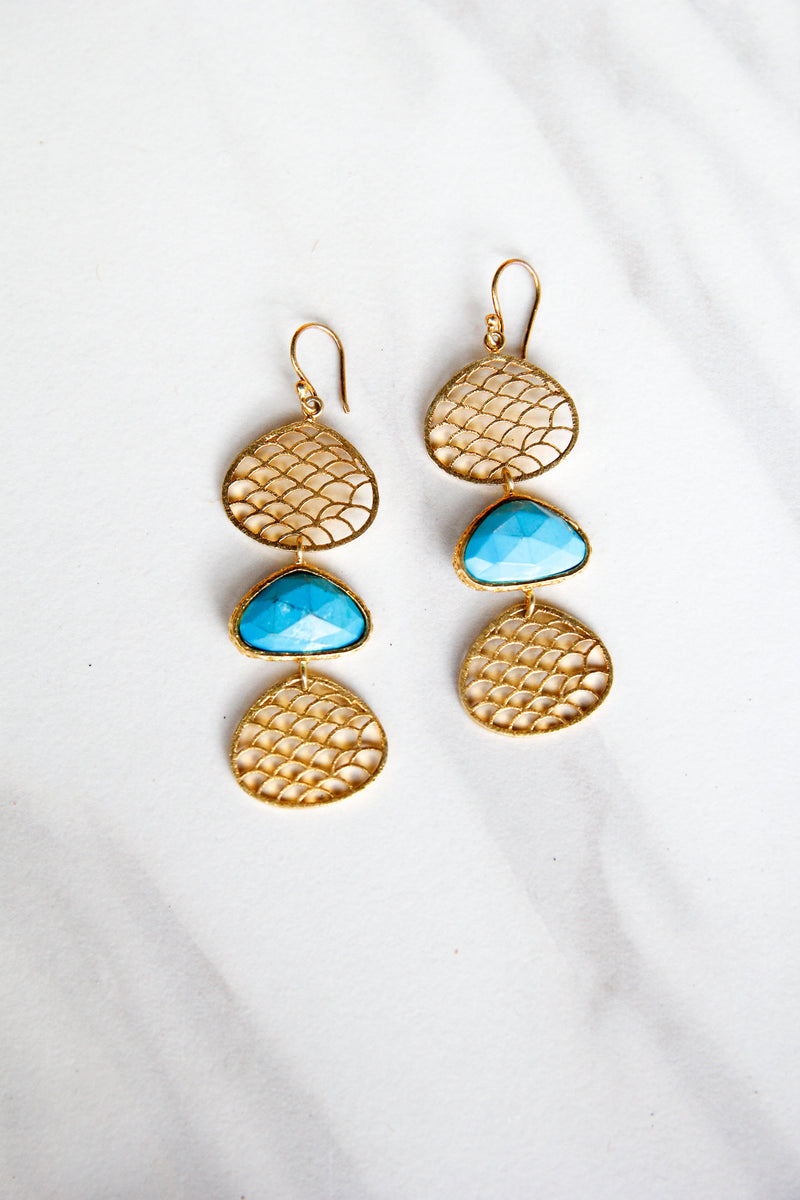 Jmarie Sea Blue Earrings