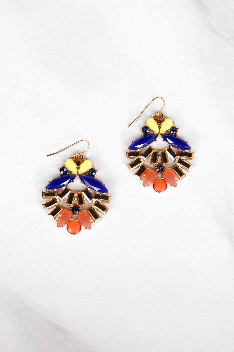 Egyptian Earrings - Blue