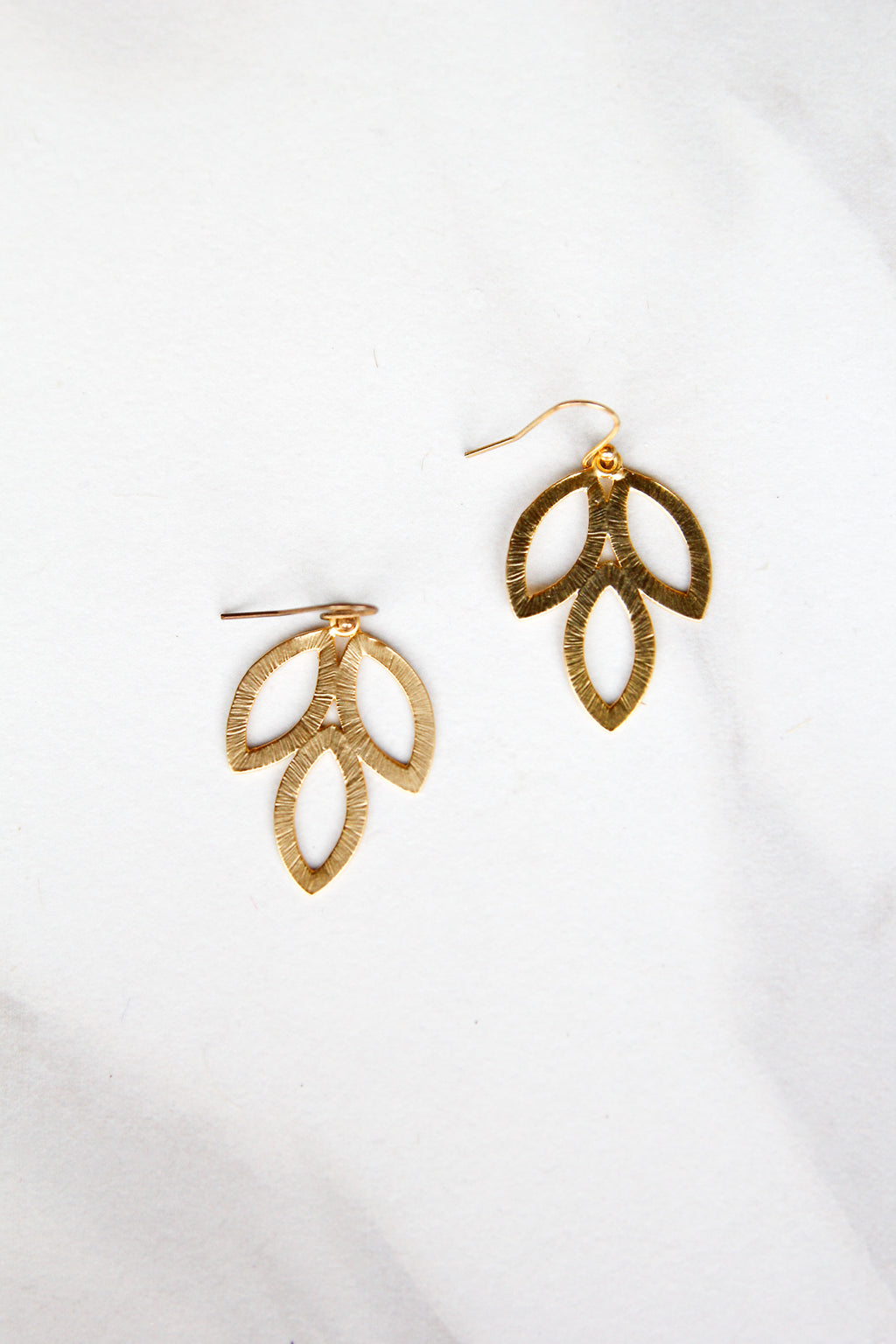 3 Leaf Petal Earrings