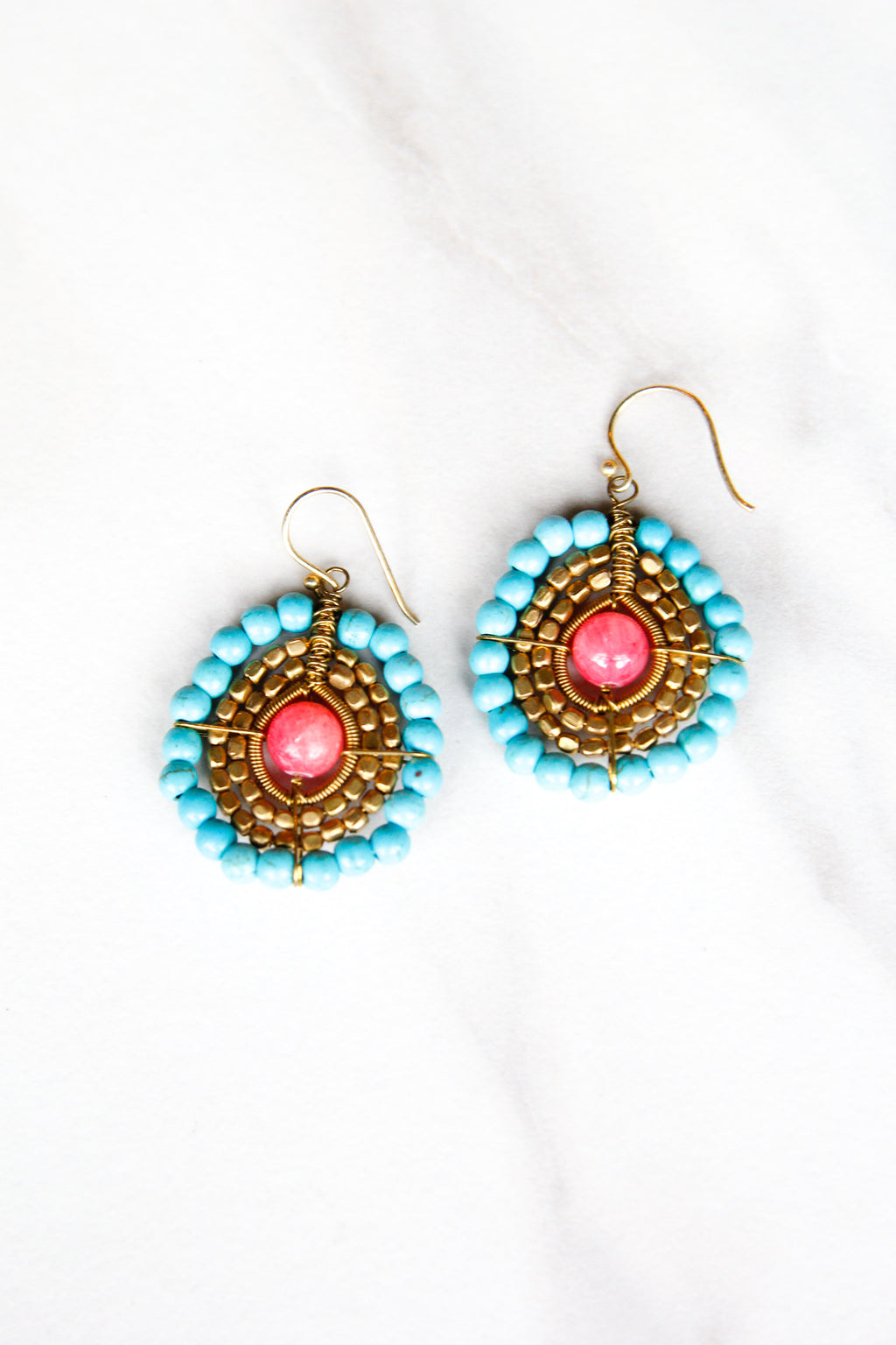 Circle around me Earrings - Pink
