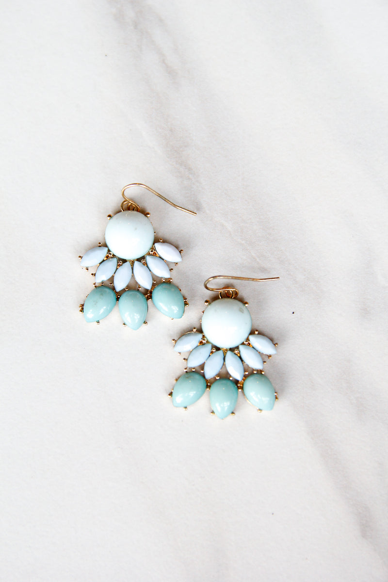 Mint Blue Statement Earrings