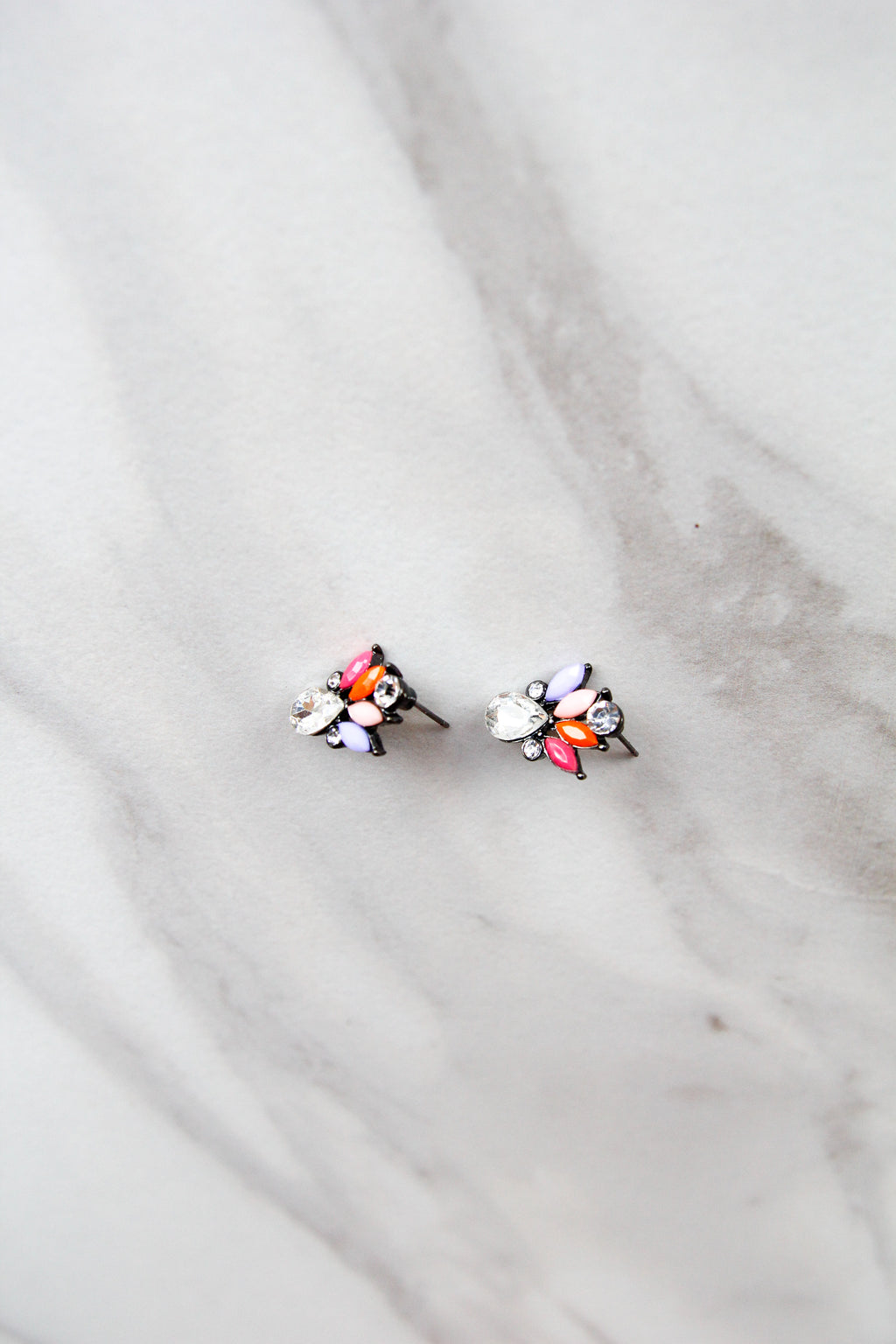 Small Statement Studs - Pink