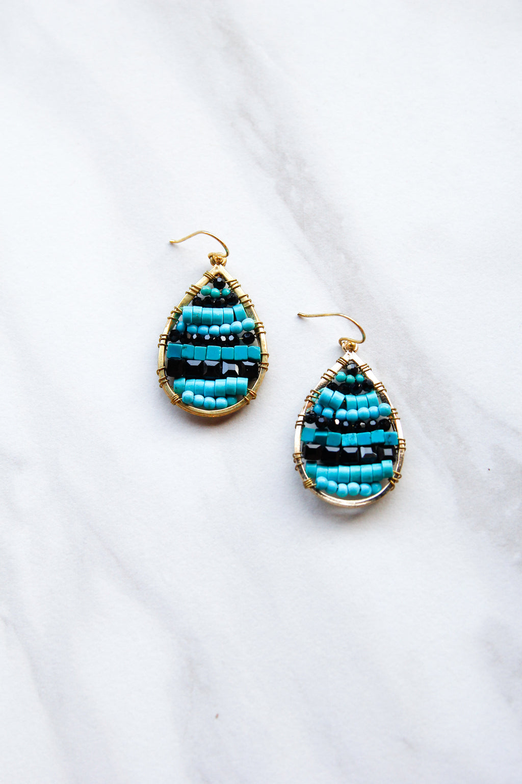 Ocean Blues Beaded earrings
