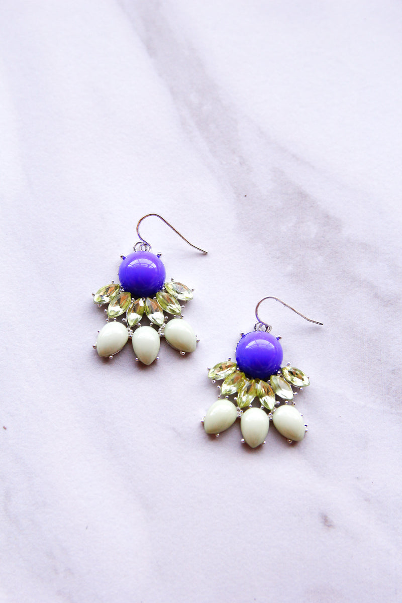 Green & Blue Statement Earrings