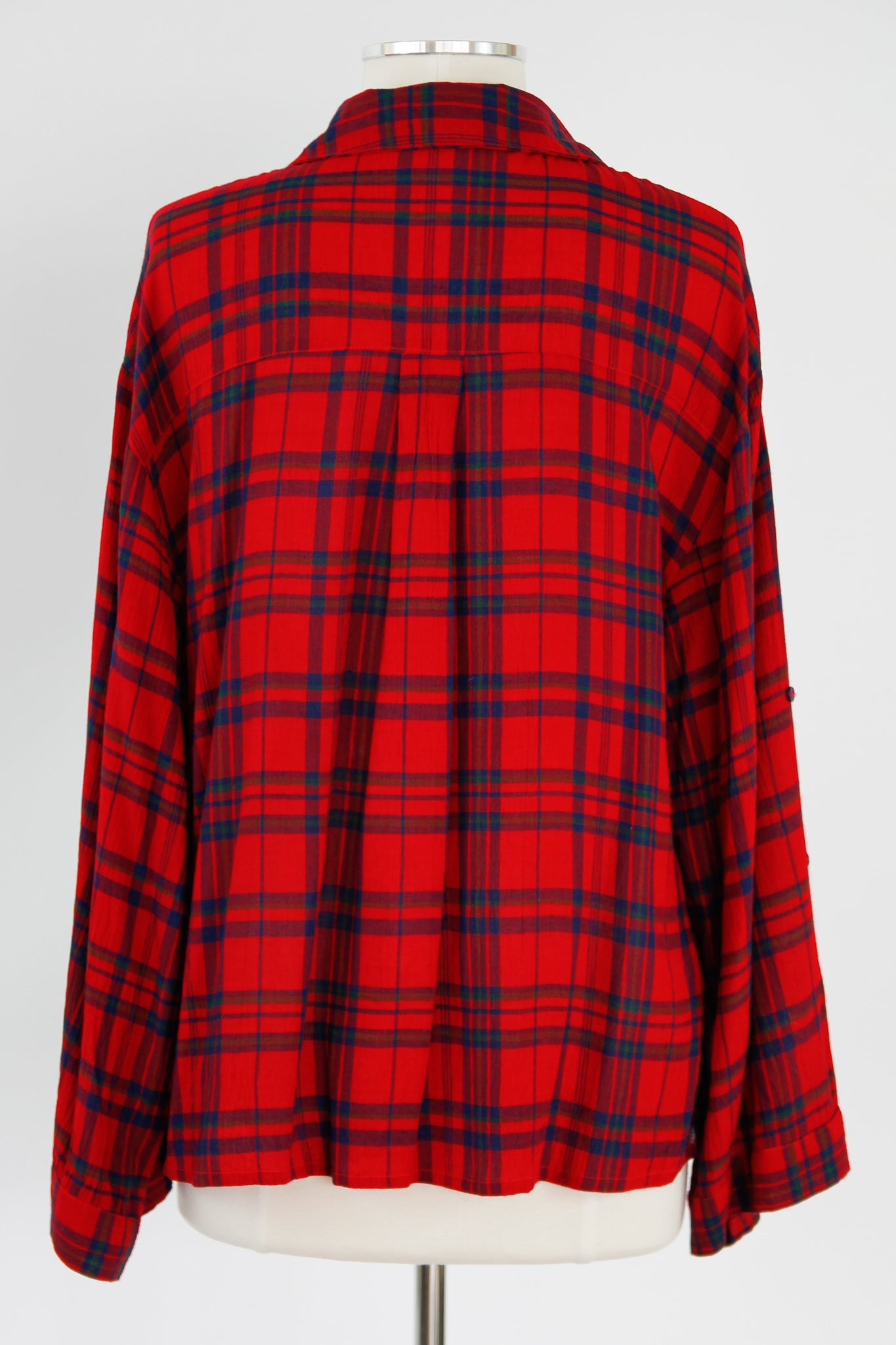 Perfectly Plaid Button Down Top - Red