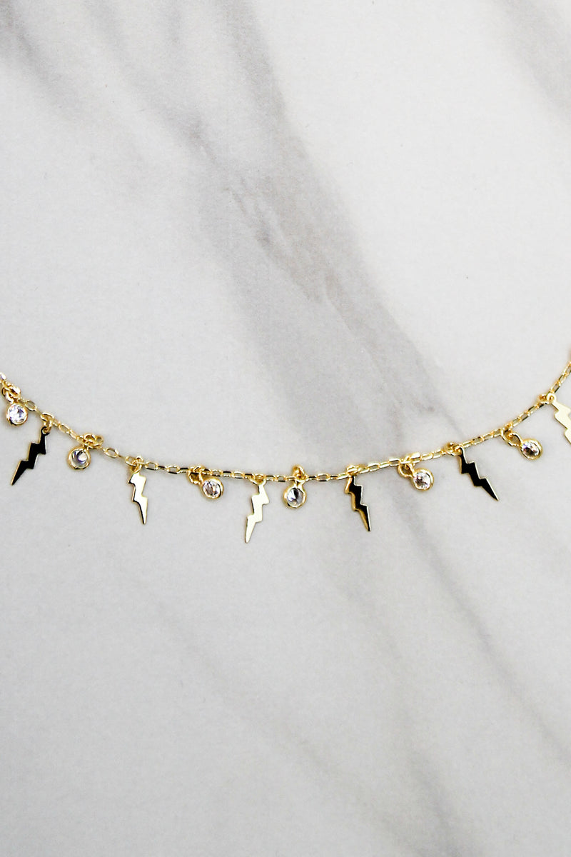 Time To Bolt Choker - Gold