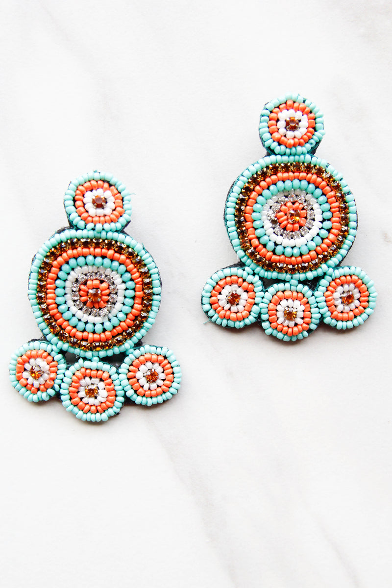 Moroccan Beaded Earrings