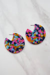 Confetti Disk Earrings - Multi