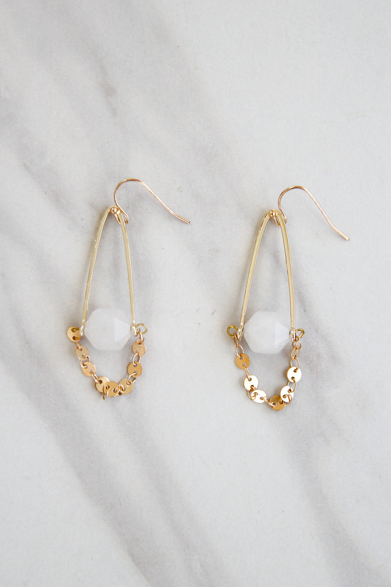 Rattle Me Up Earrings - Quartz