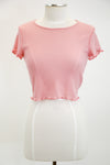 Live For Today Crop Top - Baby Pink