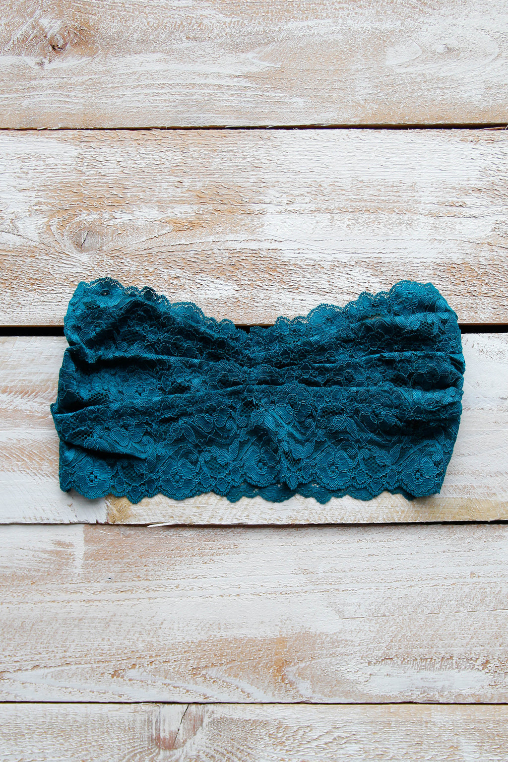 Strapless Lace Bralette - Green